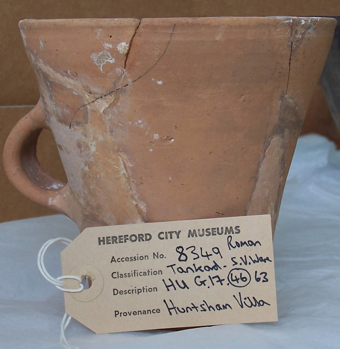 Huntsham Romano British farm tankard