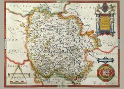 1577 Herefordshire map Christopher Saxton