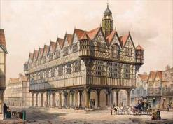 1861 Hereford Market Hall before demolition