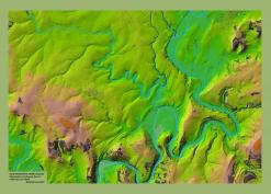 LIDAR composite of south Herefordshire
